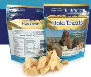 Hoki Photo with treats outside packet